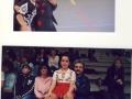 sopra la coppia danza Martina Rizzo e marco Bearzi sotto arianna Zanon